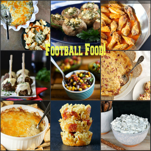 Football Food Collage