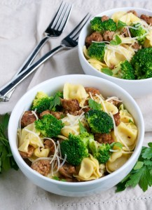 Tortellini with Italian Sausage and Broccoli