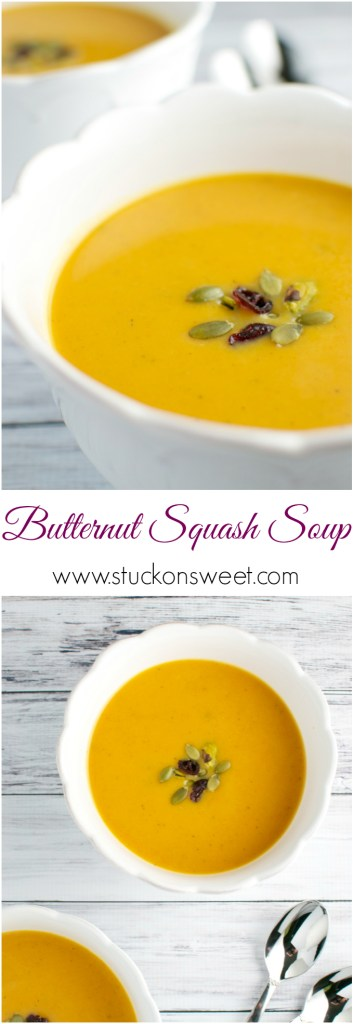Butternut Squash Soup | www.stuckonsweet.com