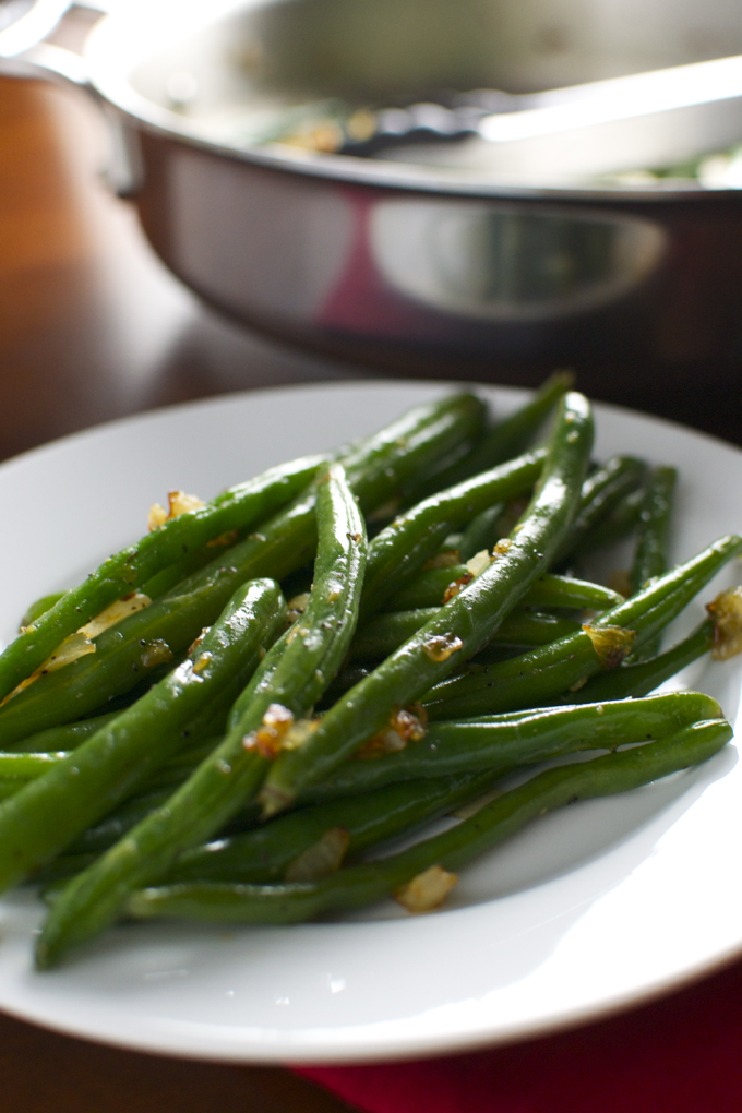 Sauteed Grean Beans with Sweet Onions