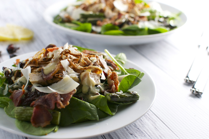 Simple Spinach Salad with Honey Mustard Dressing