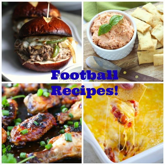 Football Recipes | stuckonsweet.com