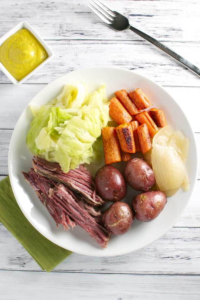 Corned Beef and Cabbage | stuckonsweet.com