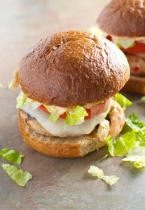 Turkey Cheeseburgers with Provolone and Thousand Island Dressing