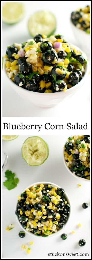 Blueberry Corn Salad | stuckonsweet.com
