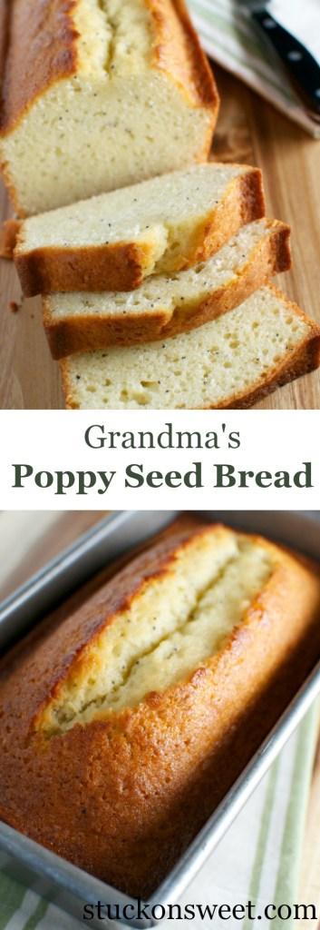 Poppy Seed Bread | stuckonsweet.com