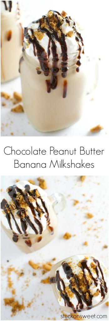 Chocolate Peanut Butter Banana Milkshake