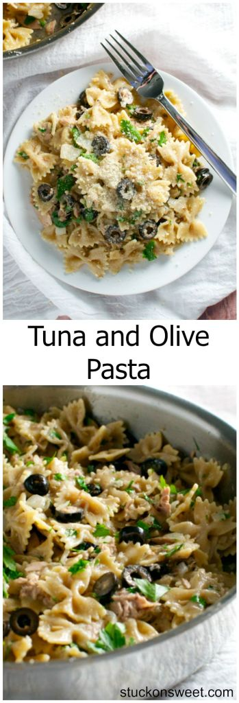 Tuna and Olive Pasta | stuckonsweet.com