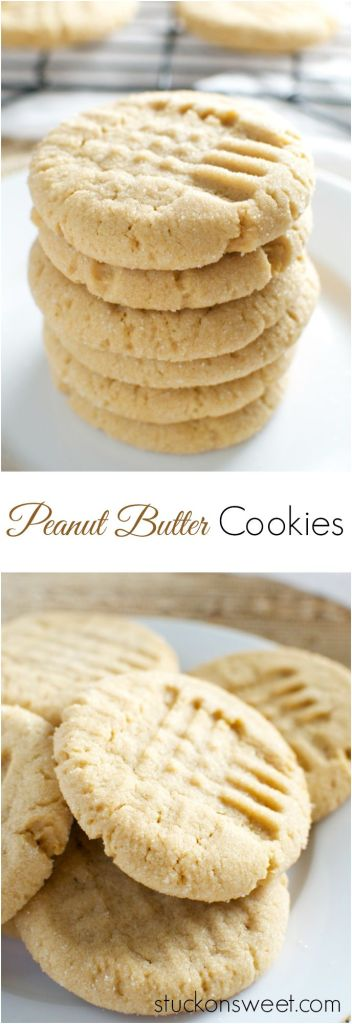 Peanut Butter Cookies | stuckonsweet.com