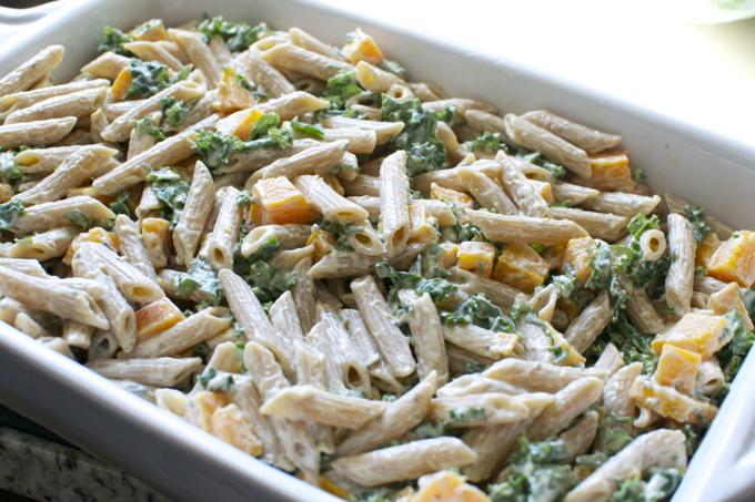 Butternut Squash and Kale Pasta Bake 6