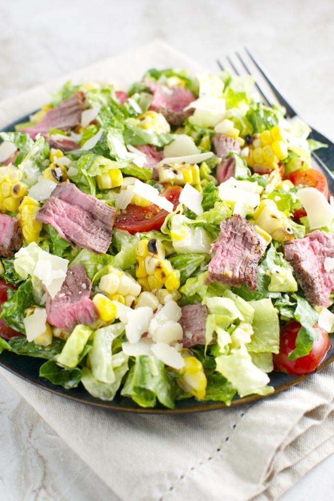 Steak and Corn Caeser Salad 3