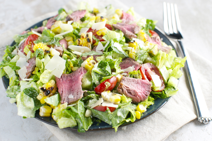 Steak and Corn Caeser Salad 4