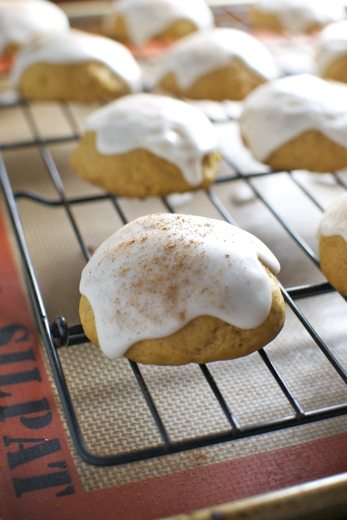 Soft Pumpkin Cookies with Maple Glaze 4