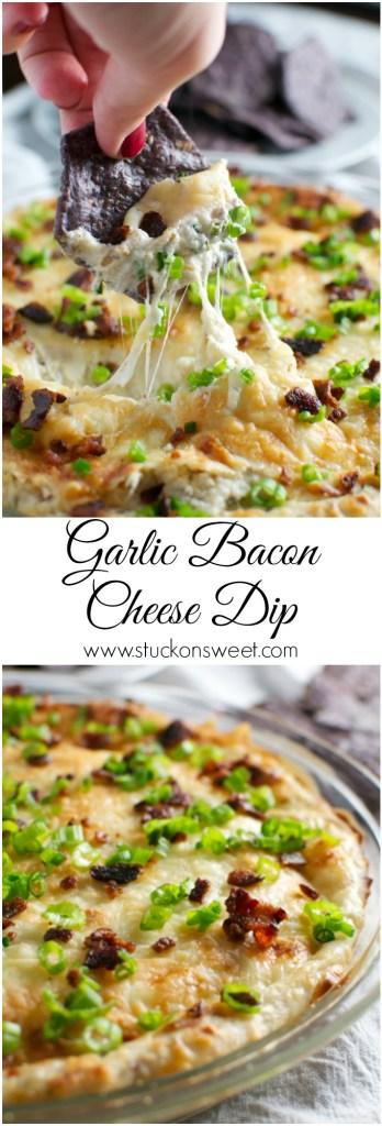 Garlic Bacon Cheese Dip | www.stuckonsweet.com