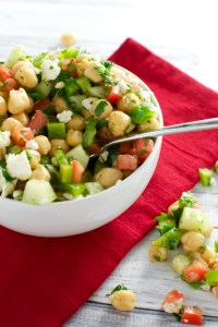 Chickpea Salad | www.stuckonsweet.com