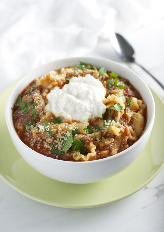Lasagna Soup | www.stuckonsweet.com