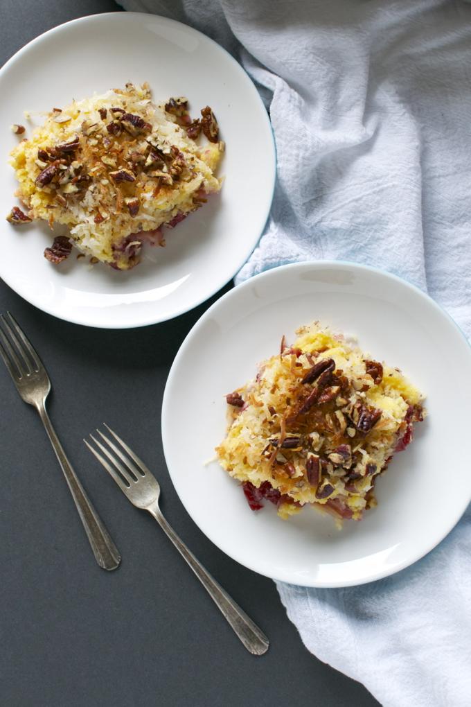 Cherry Pineapple Dump Cake | www.stuckonsweet.com