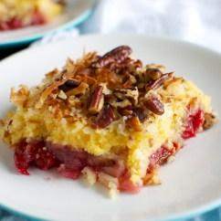 Little Bakers Kitchen Shabby Chic Stools Cherry Pineapple Dump Cake - Stuck On Sweet