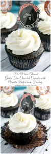 Star Wars Themed Gluten Free Chocolate Cupakes with Vanilla Buttercream Frosting | www.stuckonsweet.com