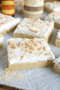 Almond Sugar Cookie Bars