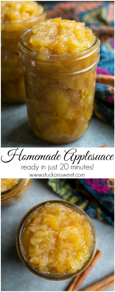 Homemade Applesauce | www.stuckonsweet.com