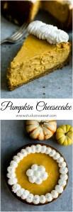 Pumpkin Cheesecake   www.stuckonsweet.com