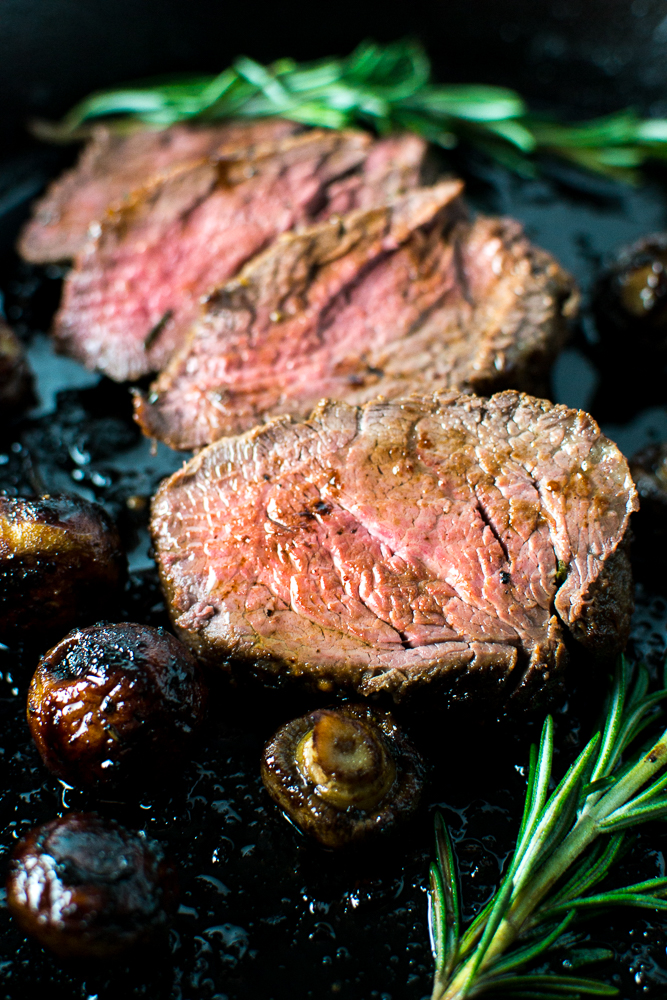 Marinated Roasted Beef Tenderloin with Mushrooms | www.stuckonsweet.com