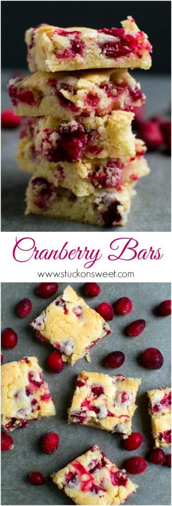 Cranberry Bars   www.stuckonsweet.com