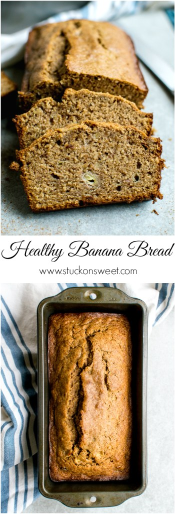 Healthy Banana Bread | www.stuckonsweet.com