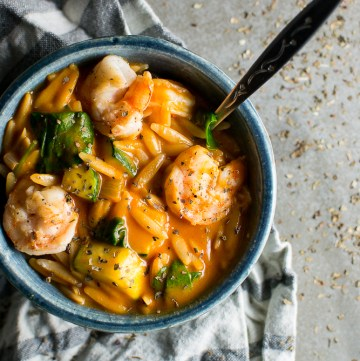 Tomato Orzo Soup with Shrimp Image