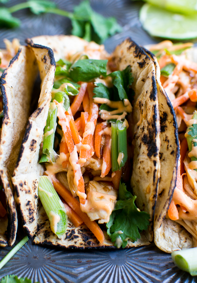 Chicken Teriyaki Tacos