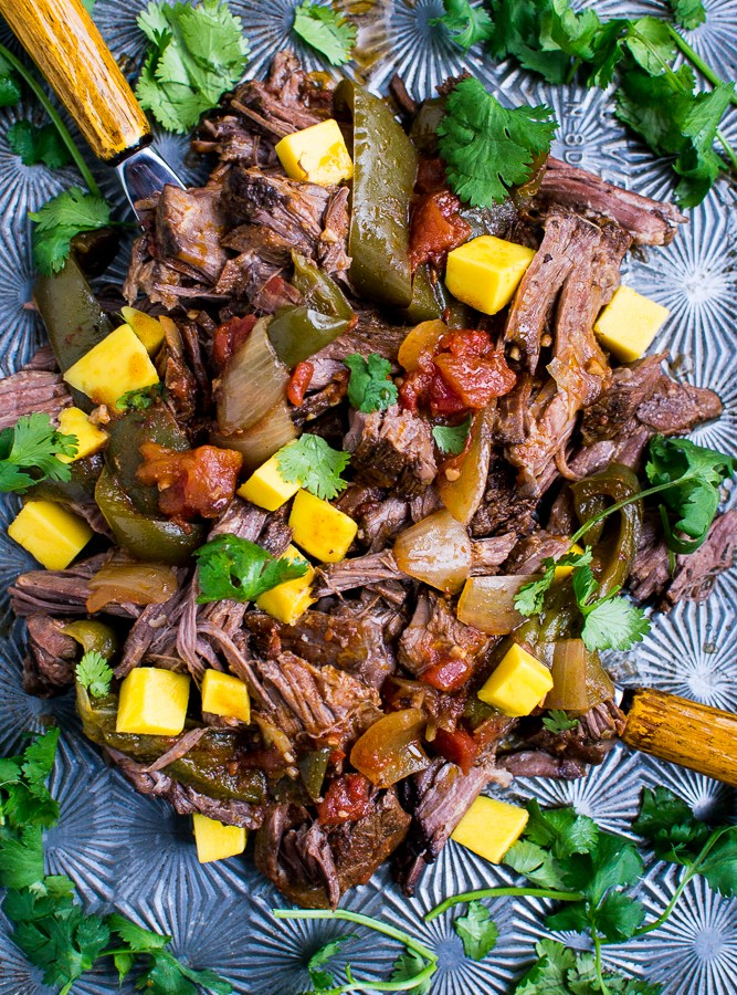 Slow Cooker Cuban Beef is such an easy weeknight meal!