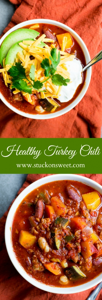 Healthy Turkey Chili Recipe - this recipes is good and full of vegetables!