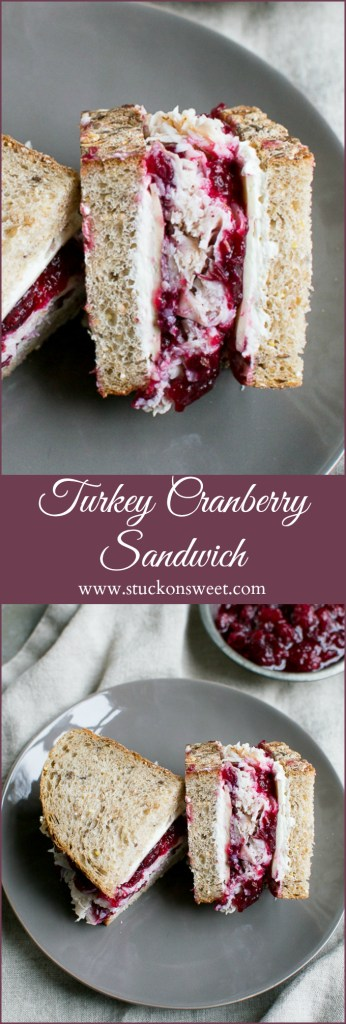 Turkey Cranberry Sandwich - love this sandwich for any time of year but it works great with leftover Thanksgiving turkey!