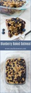 Healthy Breakfast Recipe! Blueberry Baked Oatmeal!