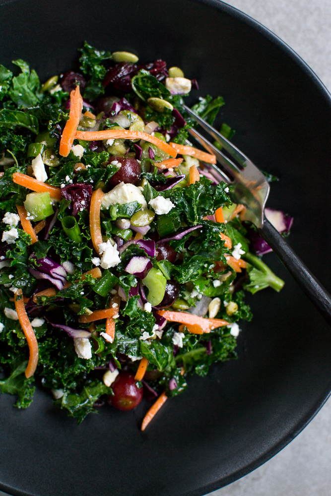 picture of a kale salad in a bowl