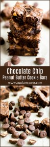 Chocolate Chip Peanut Butter Cup Cookie Bars - these are amazing!