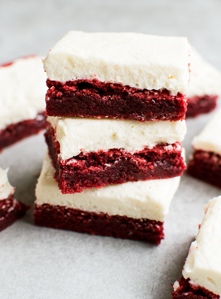 Valentine's Day Dessert Red Velvet Brownies