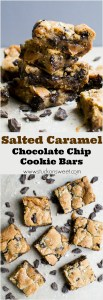 These salted caramel cookie bars are downright amazing! I love anything with salted caramel in it - truly the perfect indulgent dessert!