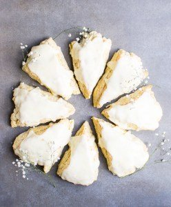 picture of orange scones with icing