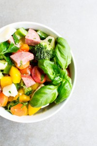 The Easiest Summer Sausage and Vegetable Salad