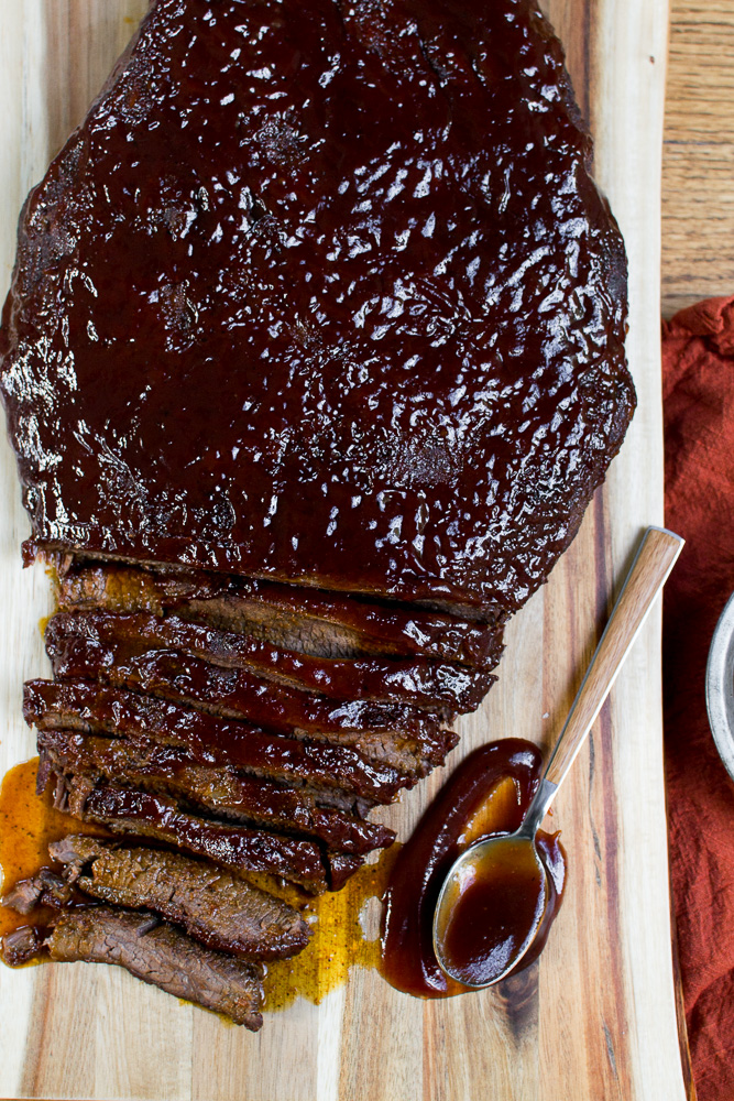 delicious baked brisket that's easy to make.