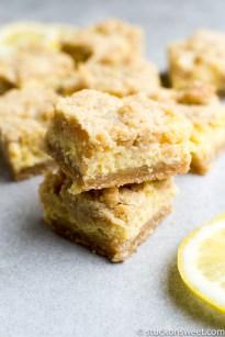 Lemon Shortbread Bars Stuck On Sweet,Curdled Milk In Tea