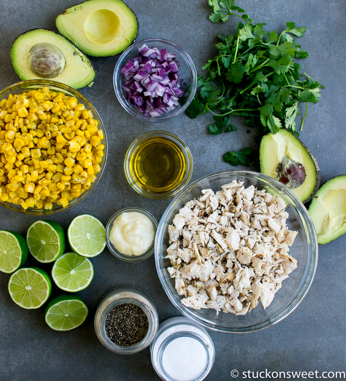 ingredients list for Mexican chicken salad