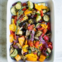 Roasted Balsamic Garlic Vegetables