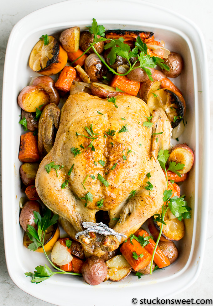 roasted chicken dinner