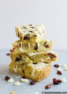 Cranberry Orange Cookie Bars