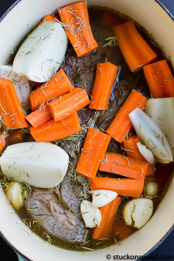 Ingredients for pot roast recipe