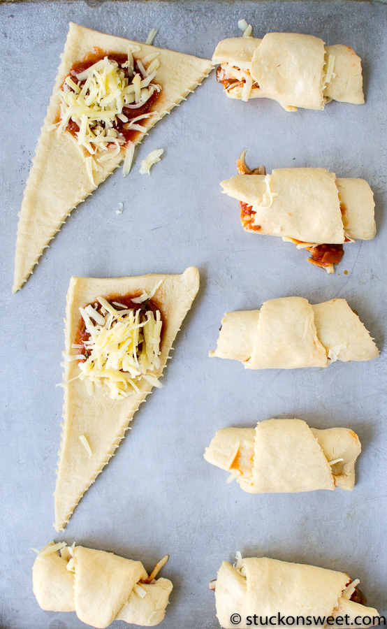 easy pizza rolls made with crescent rolls.