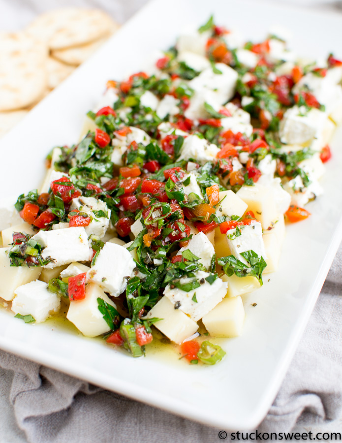 Gorgeous cheese appetizer made with fresh herbs and spices
